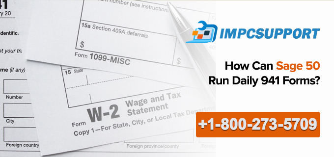 How Can Sage 50 Run Daily 941 Forms?
