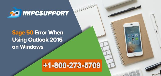 Sage 50 error when using Outlook 2016 on Windows